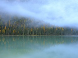 Secondo premio - Titolo: Prime luci del giorno Autore: Stefania Urbini Luogo: Lago di Landro (Trentino Alto Adige)
